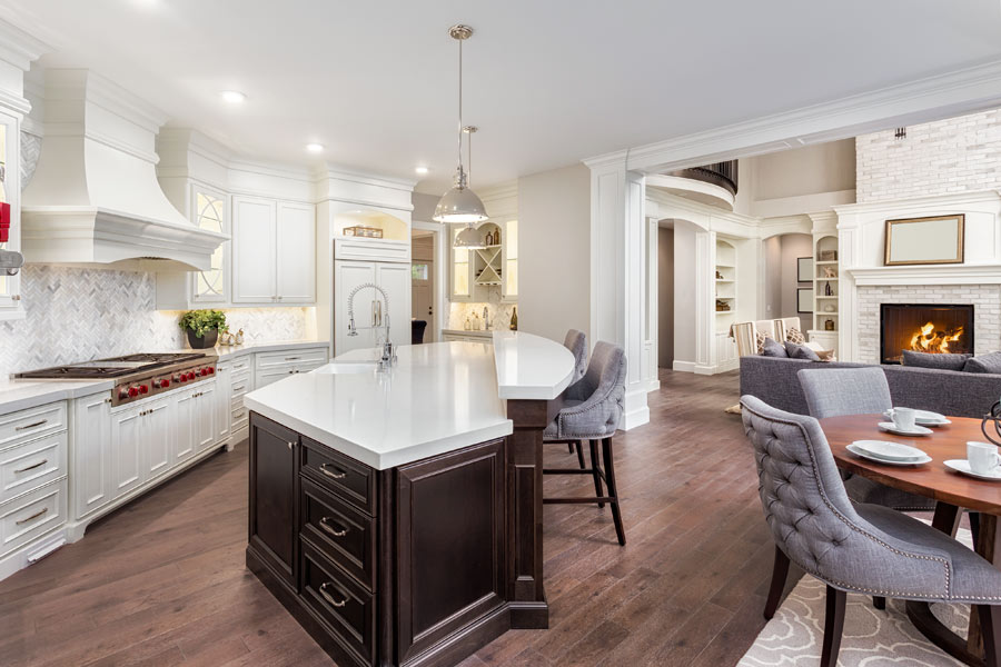Conestoga cabinets can help to unify an open concept home