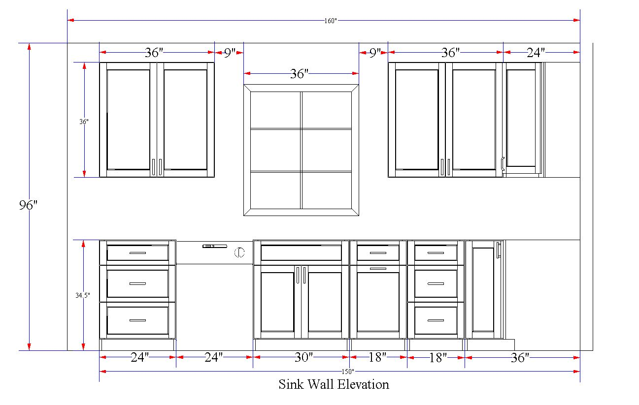 Sink Wall Elevation Example