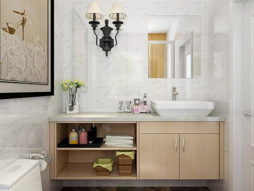 Minimalist Cabinet Design Half-Open Shelving