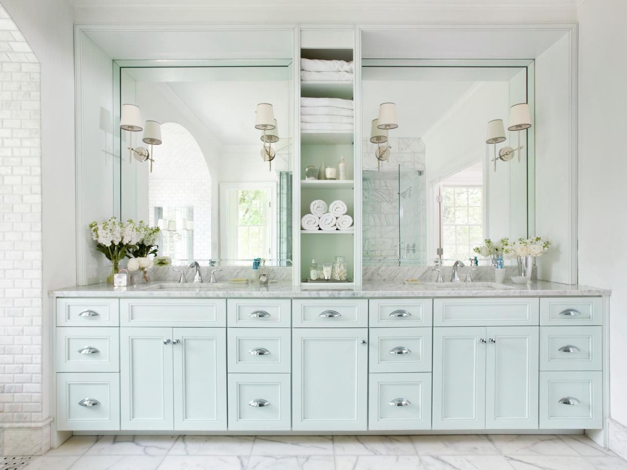Minimalist Cabinet Design Double Vanities