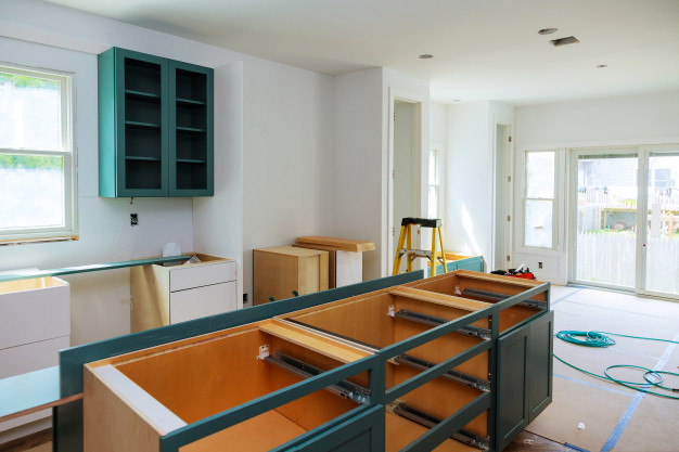 keep your kitchen Renovation budget low by using simple shelving