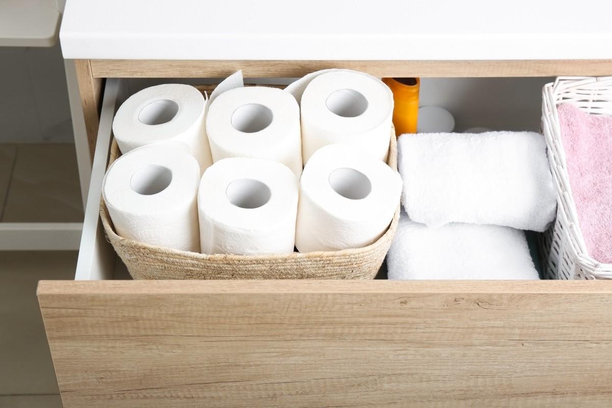 bathroom vanity drawers