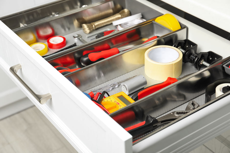 Finding storage for tools and other items in your garage is easy with custom cabinets