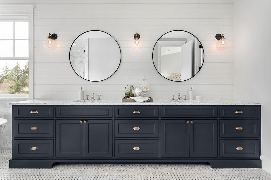 Water safe bathroom cabinets