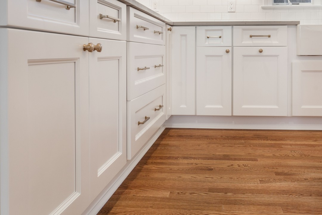 Toe kicks keep your under-cabinets and kitchen floor clean